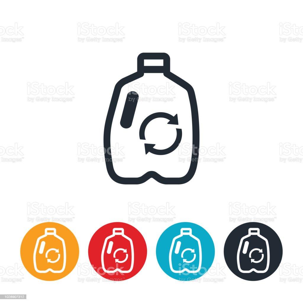 Recycle Plastics Icon vector art illustration