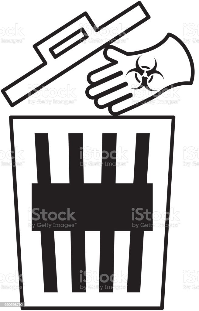 recycle pot garbage icon royalty-free recycle pot garbage icon stock vector art & more images of alertness