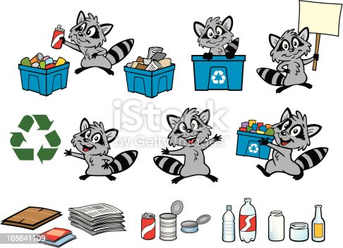 istock Recycle Raccoon 165641109