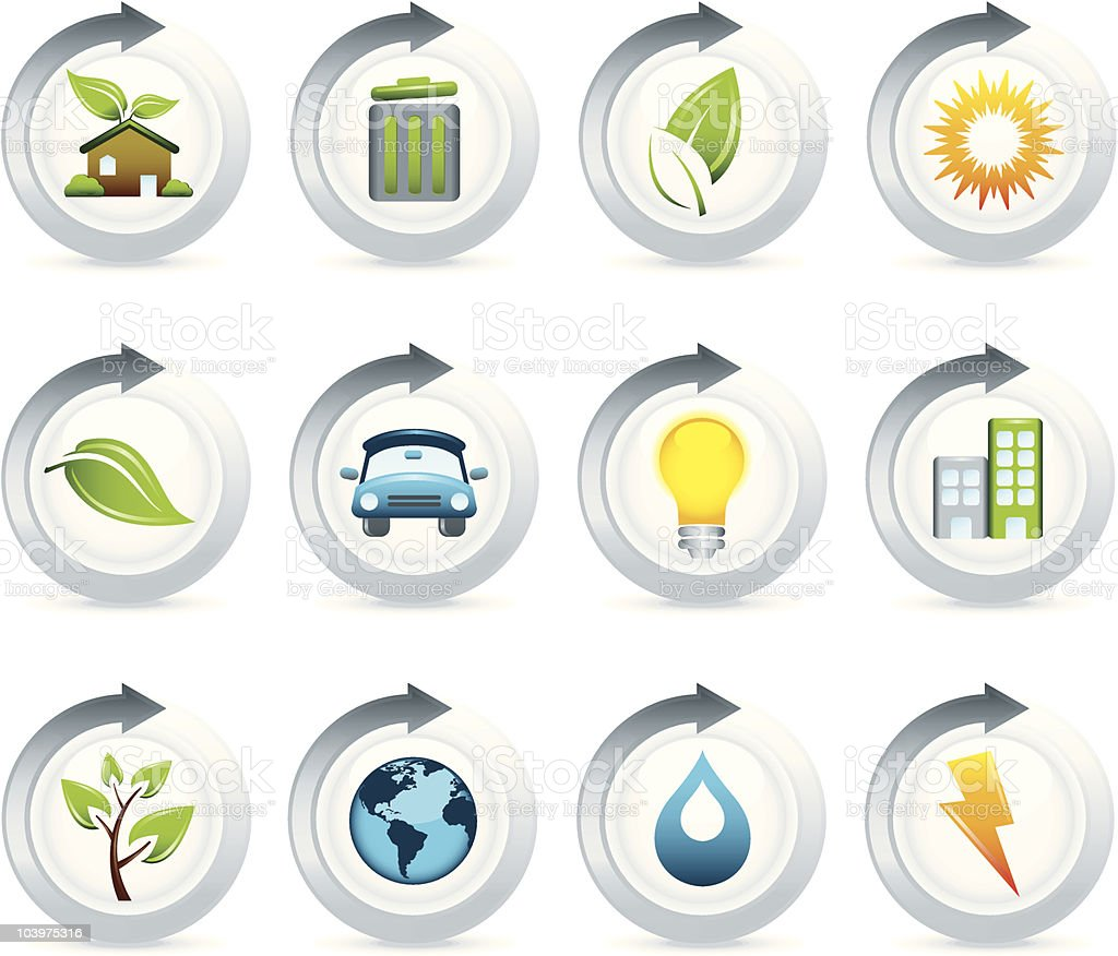 Recycle, Reuse, Restore vector art illustration