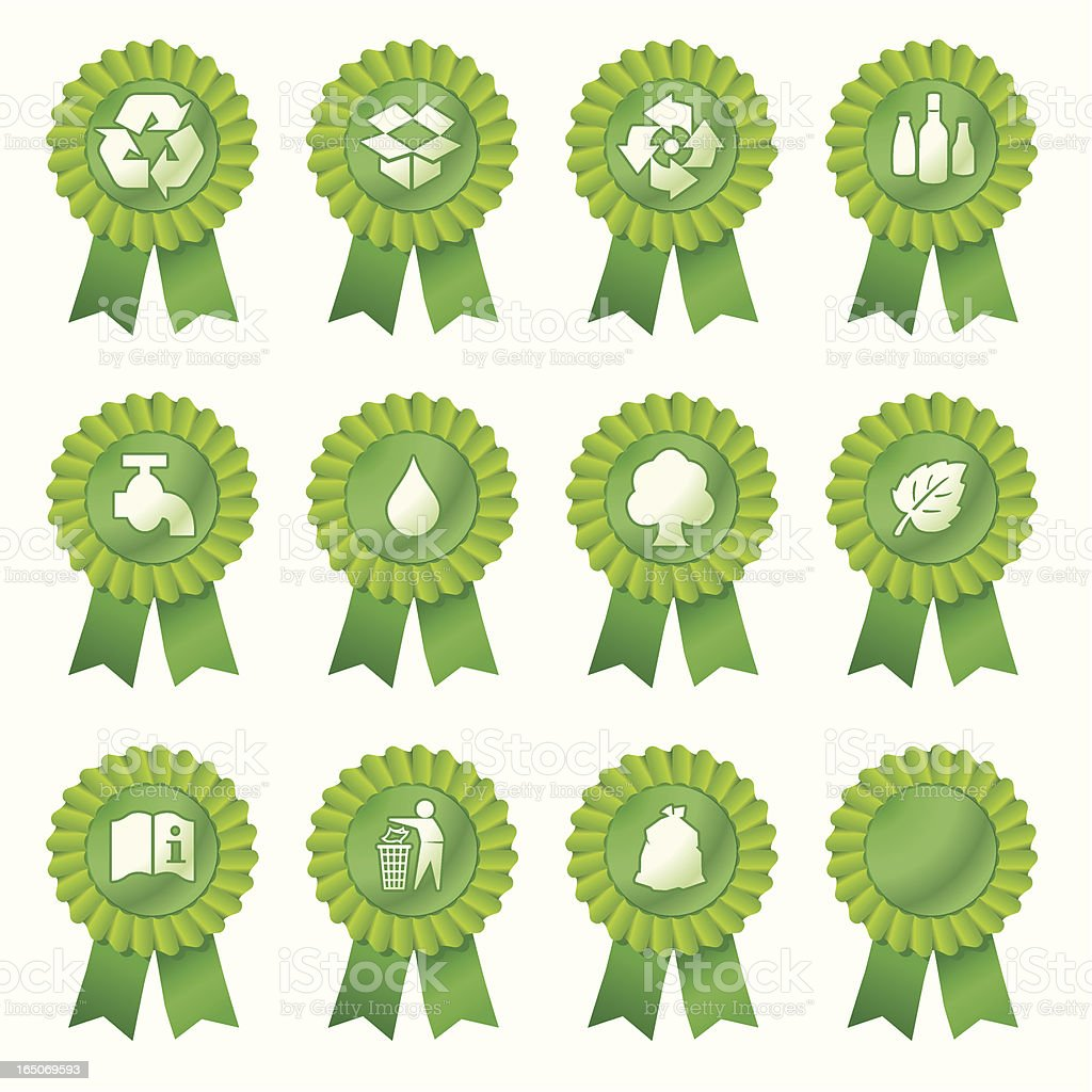 Recycle Rosettes royalty-free stock vector art