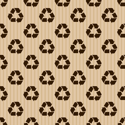 Recycle Shipping Label Pattern
