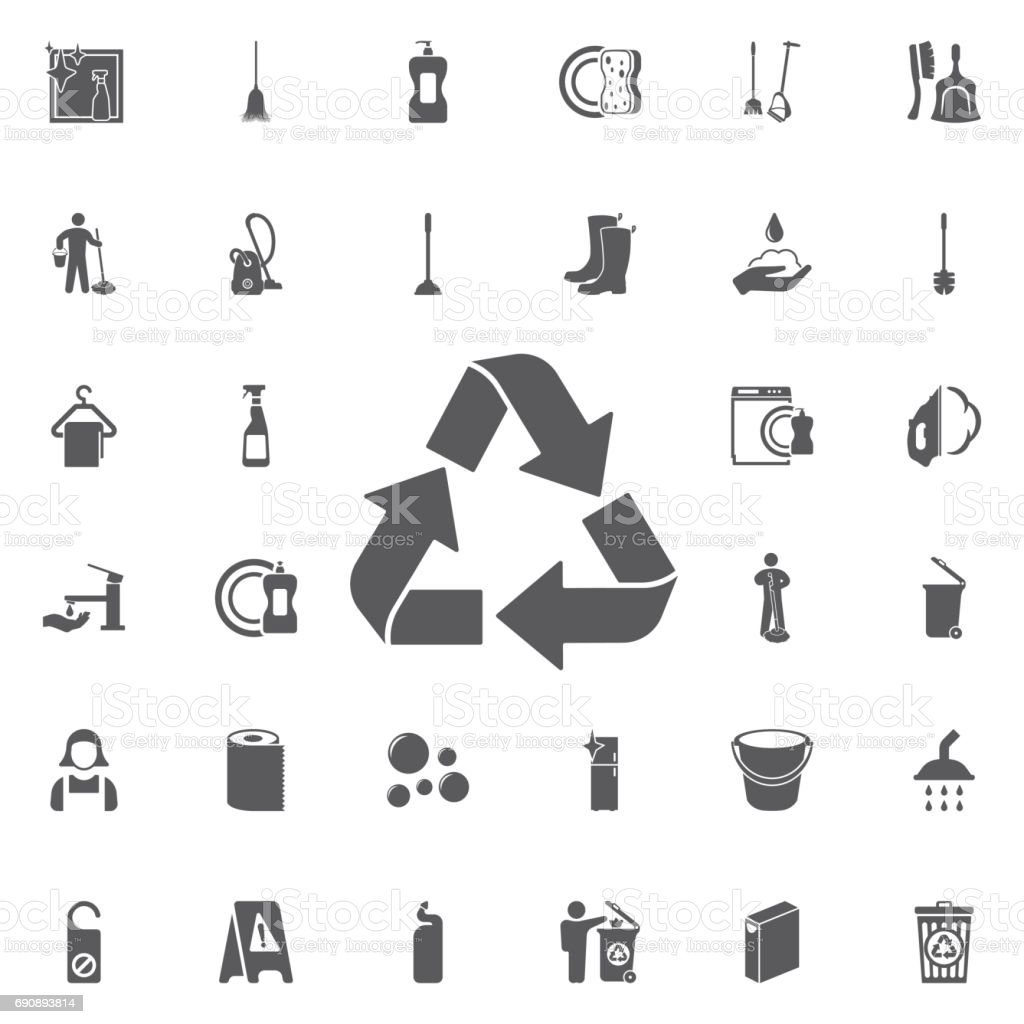 Recycle sign isolated icon. vector art illustration