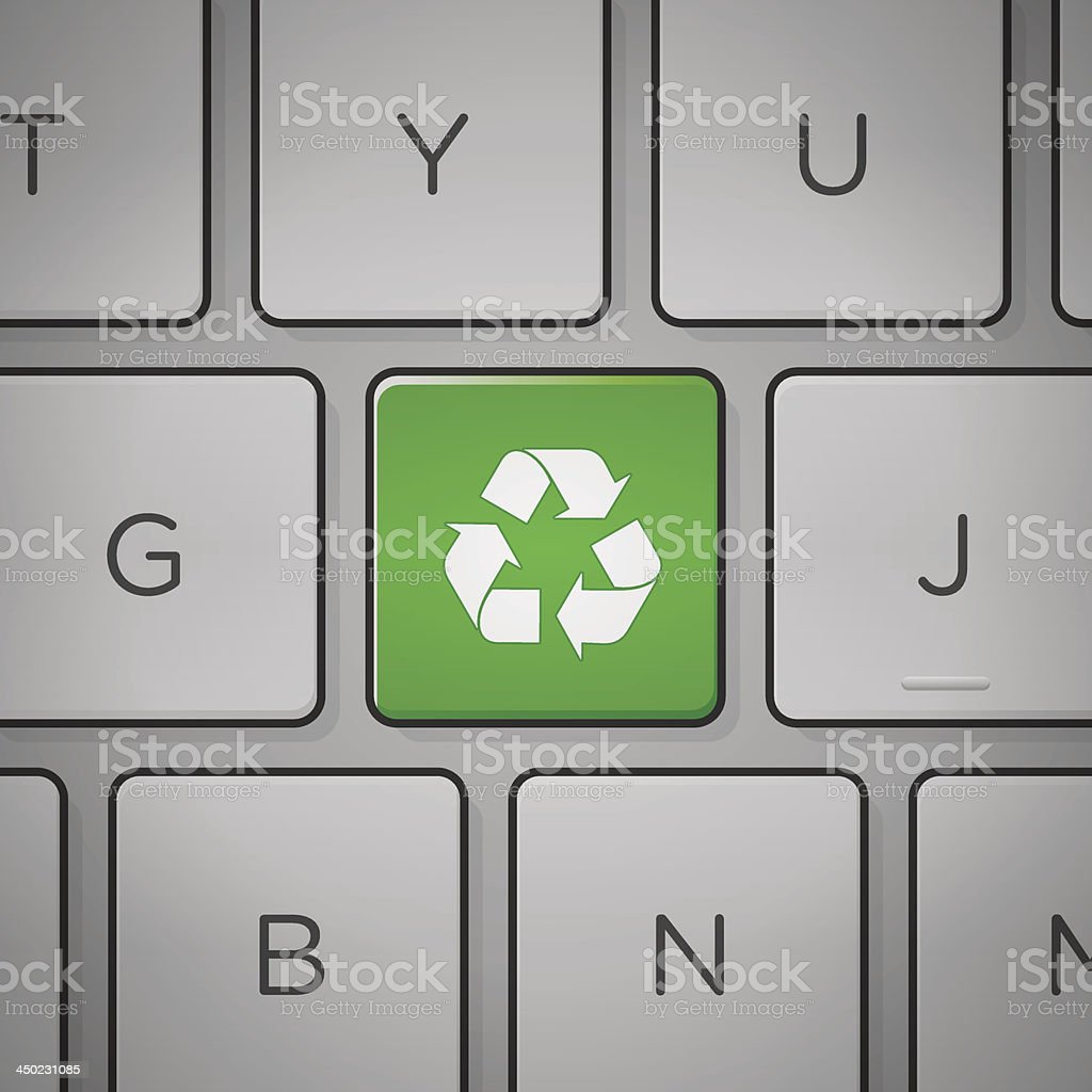 Recycle Sign Keyboard royalty-free recycle sign keyboard stock vector art & more images of assistance