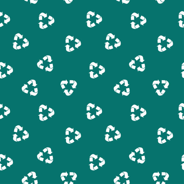 recycle sign pattern vector art illustration