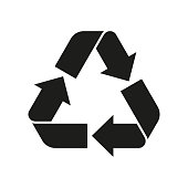 Recycle sign. Reuse symbol with arrows. Eco and environment protection icon. Vector illustration.