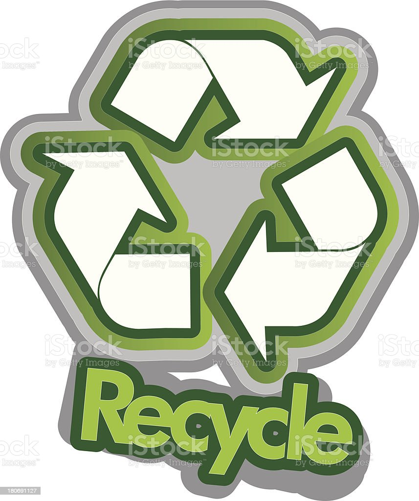 Recycle sign royalty-free stock vector art