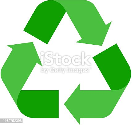 istock Recycle sign vector illustration. 1162752096