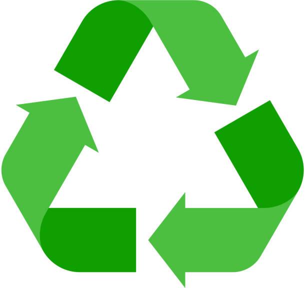 recycling-zeichen-vektor-illustration. - recycling stock-grafiken, -clipart, -cartoons und -symbole