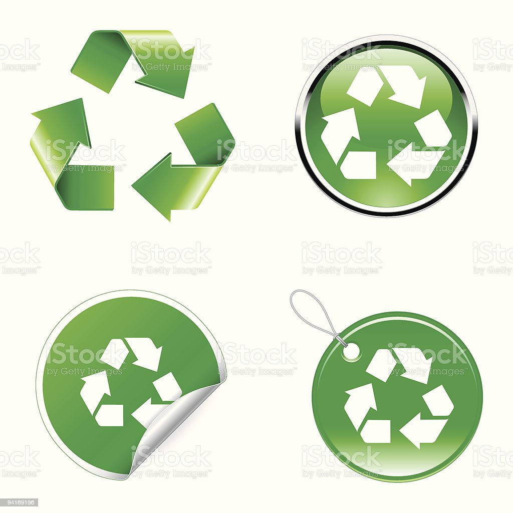 Recycle signs. royalty-free stock vector art