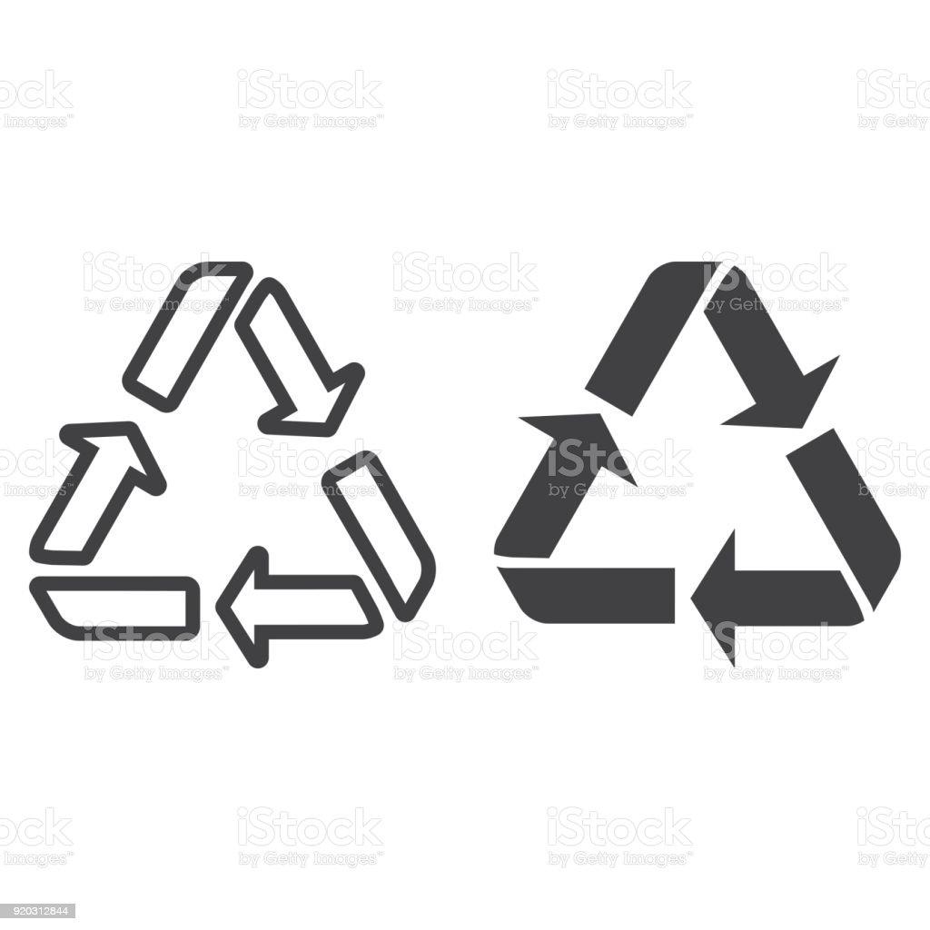 Recycle symbol line and glyph icon eco and delivery arrows sign recycle symbol line and glyph icon eco and delivery arrows sign vector graphics buycottarizona Choice Image