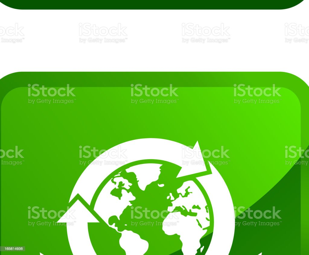 Recycle Symbol With Globes Royalty Free Vector Icon Set Stickers