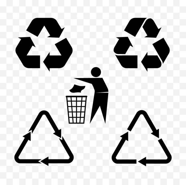 stockillustraties, clipart, cartoons en iconen met recycle symbolen - opruimen