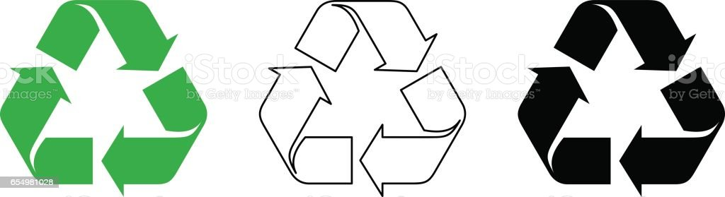 Recycle symbols. Vector illustration.