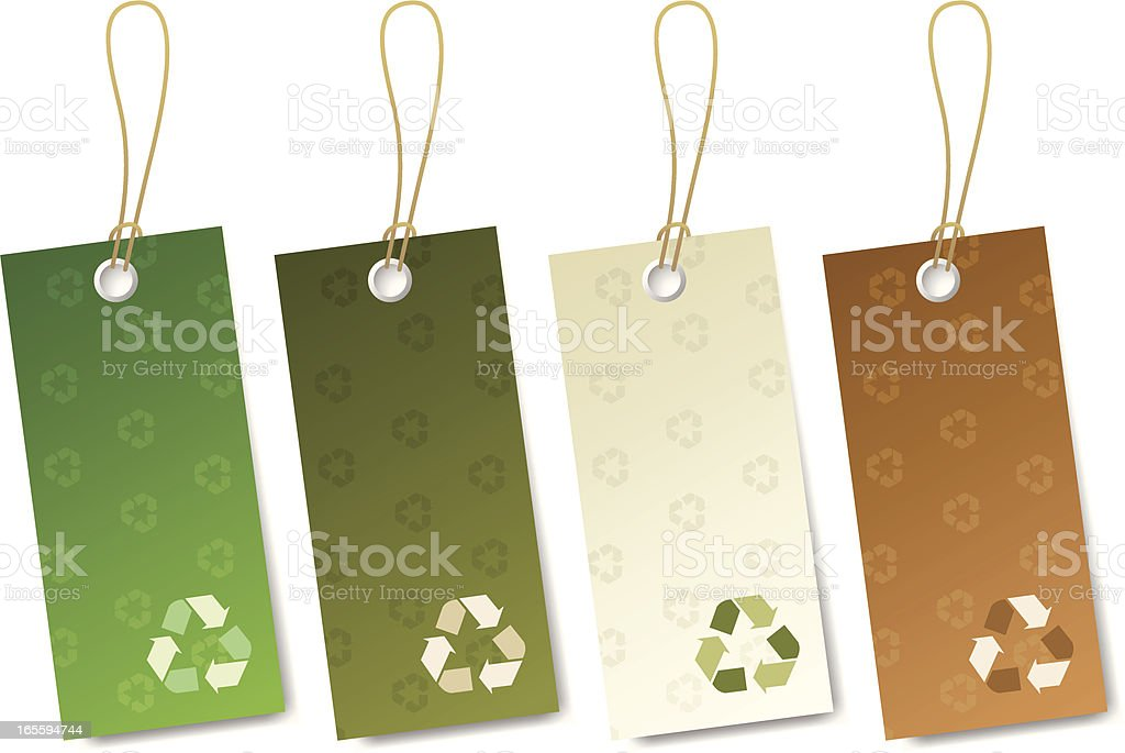 Recycle Tag royalty-free stock vector art