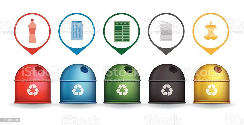 Contenedores de reciclaje de poner verde con triturador de - Contenedores de reciclar ...