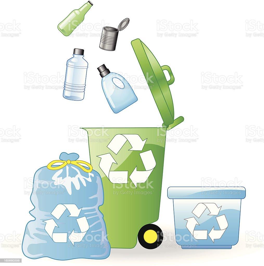 recycle trash royalty-free stock vector art