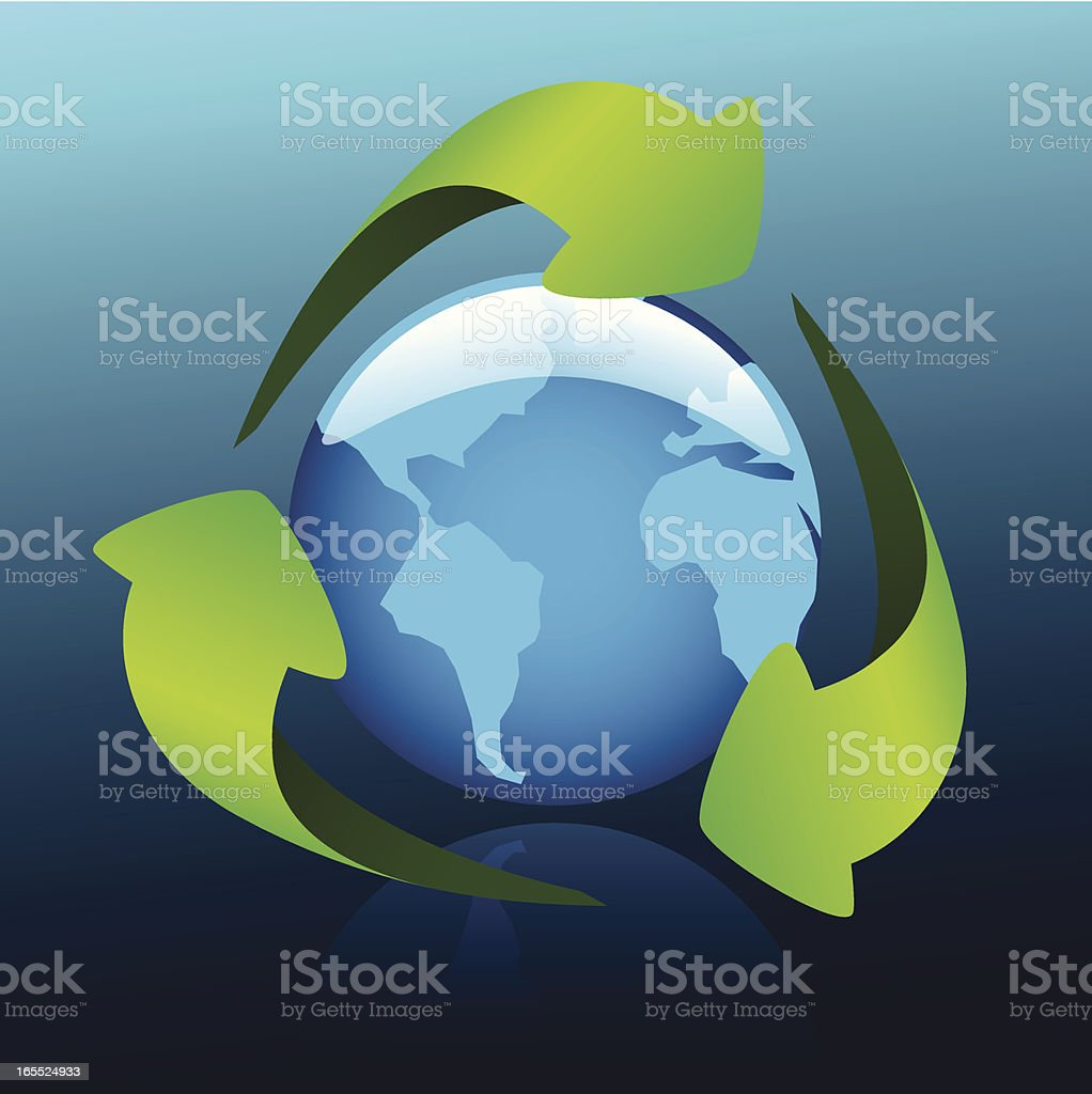 Recycle! royalty-free stock vector art