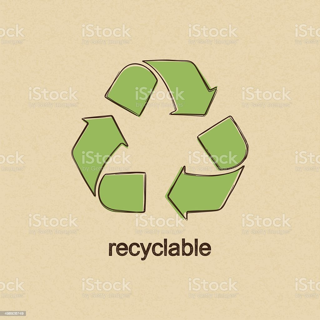 Recycle vector art illustration