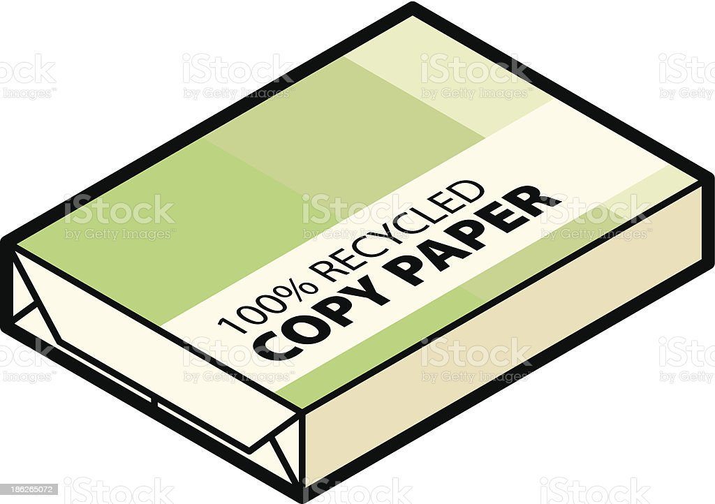 Recycled Paper royalty-free stock vector art