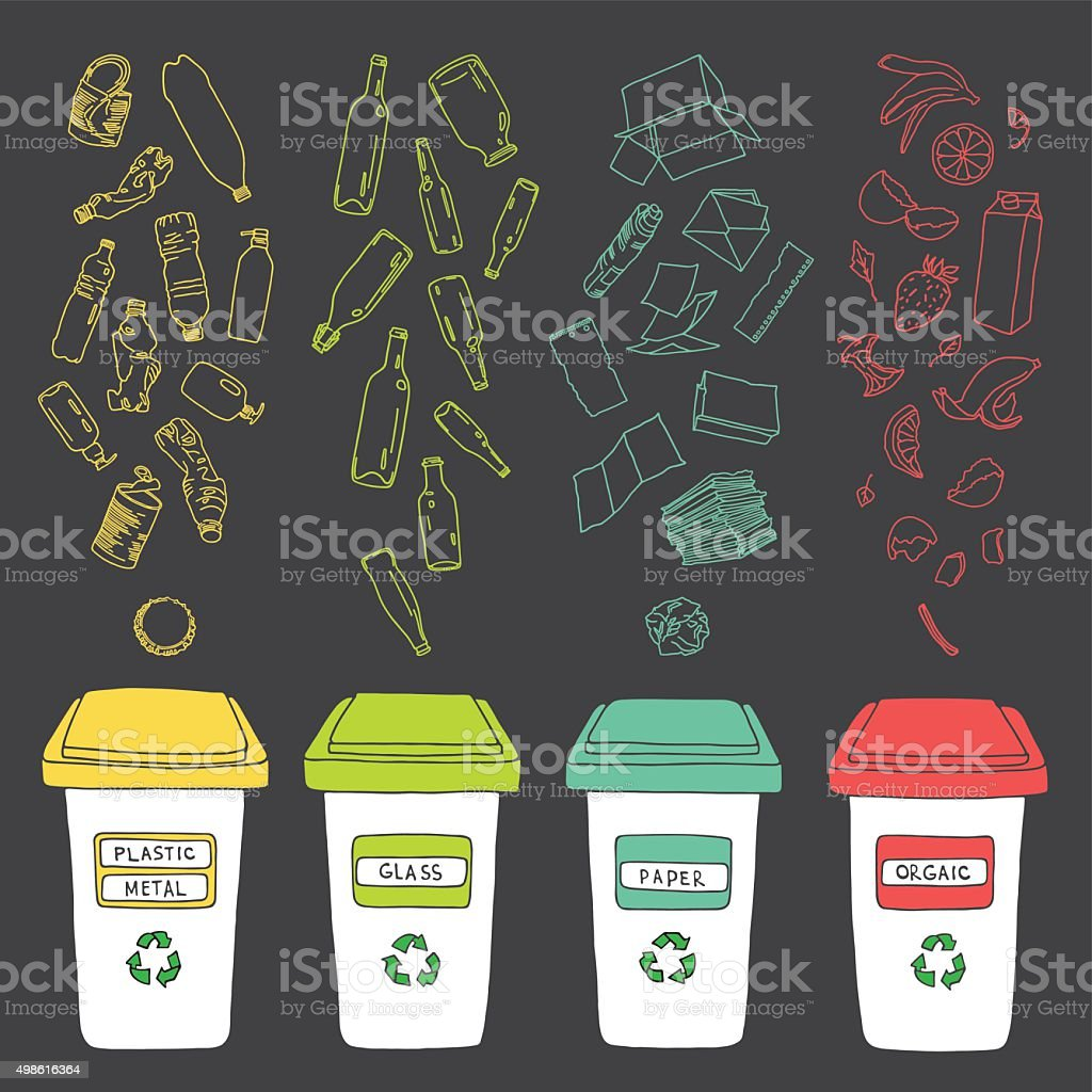 Recycles 6 vector art illustration