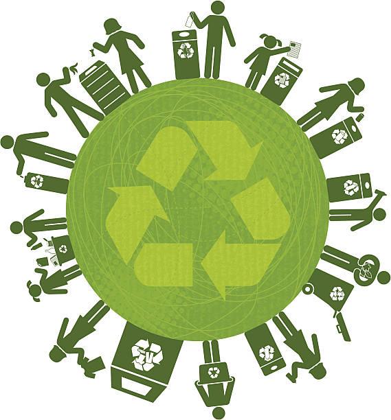 illustrazioni stock, clip art, cartoni animati e icone di tendenza di riciclaggio in tutto il mondo - composting
