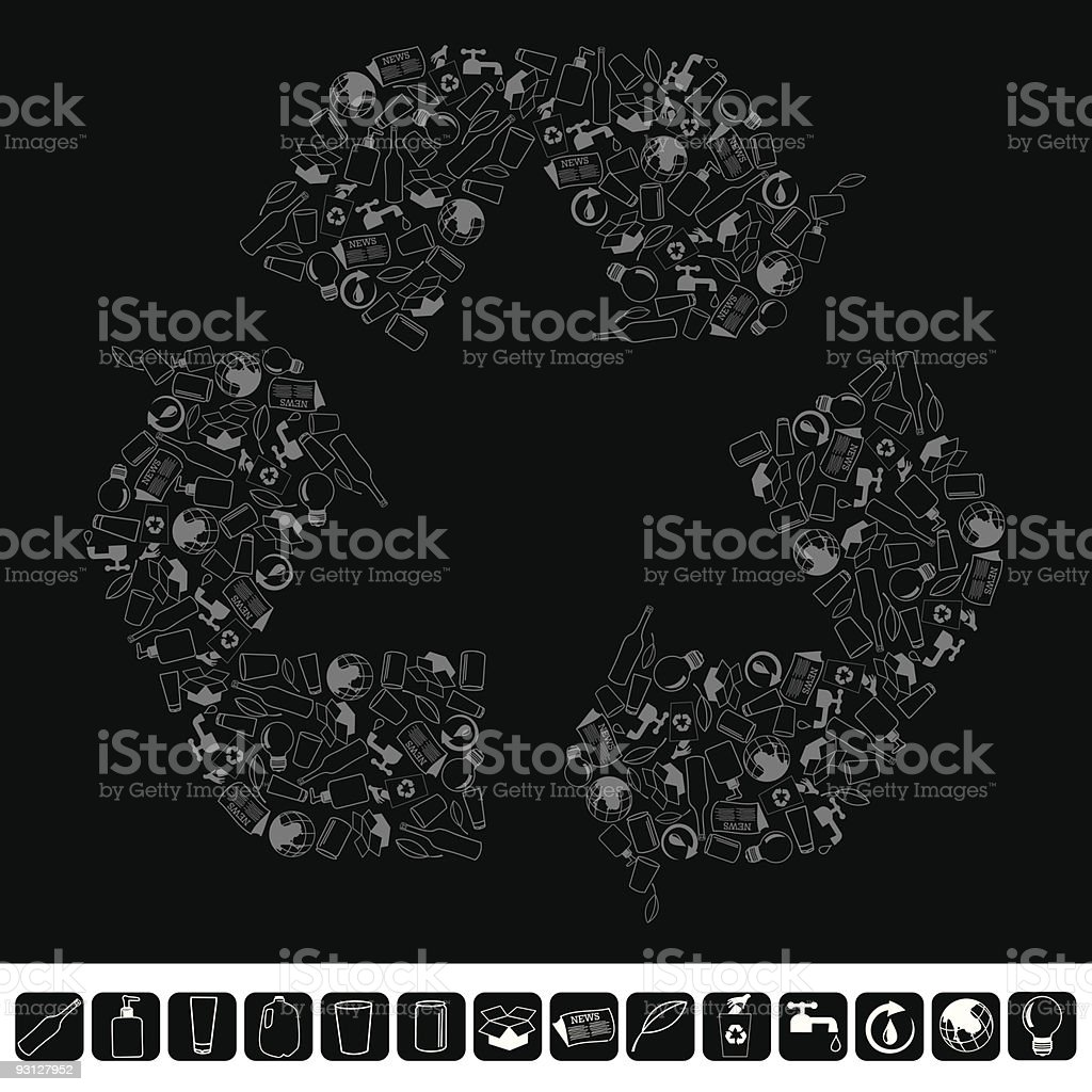 Recycling and Conservation Icons royalty-free stock vector art