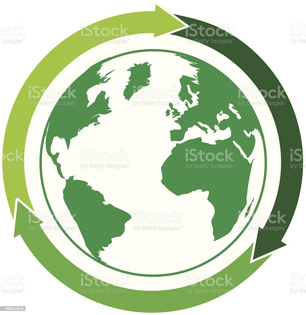 Recycling arrows around green world map stock vector art more recycling arrows around green world map royalty free recycling arrows around green world map stock gumiabroncs Image collections