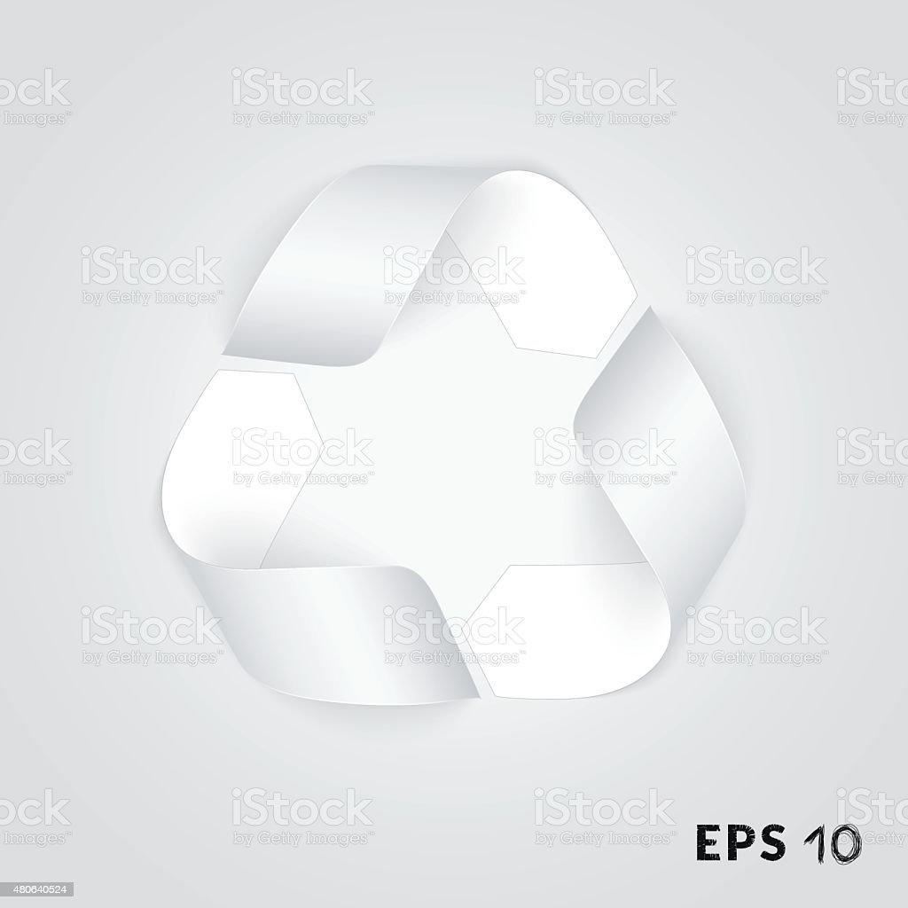 Recycling arrows symbol vector art illustration