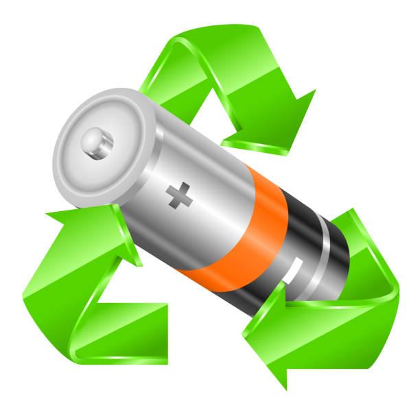 Recycling Batterie – Vektorgrafik