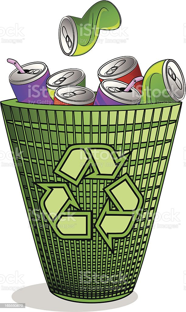 Recycling Bin Full of Cans royalty-free recycling bin full of cans stock vector art & more images of alcohol