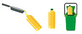 Recycling cooking oil vector