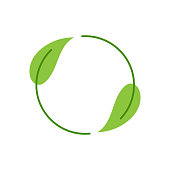 Recycling Environment Label With on White Background
