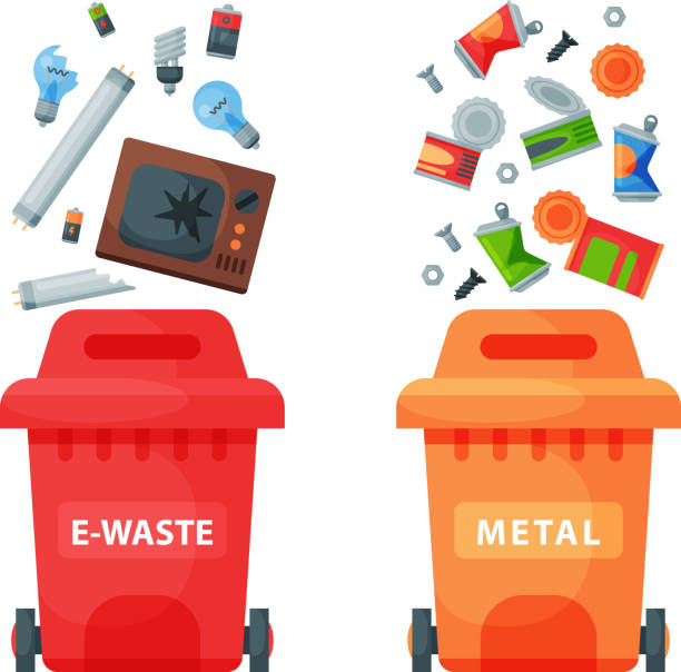 Vector E Sanitary Service : Royalty free electronic waste clip art vector images