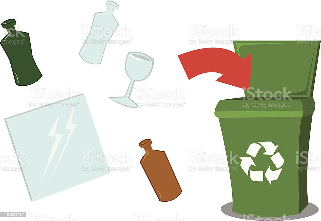 Recycling Glass royalty-free stock vector art