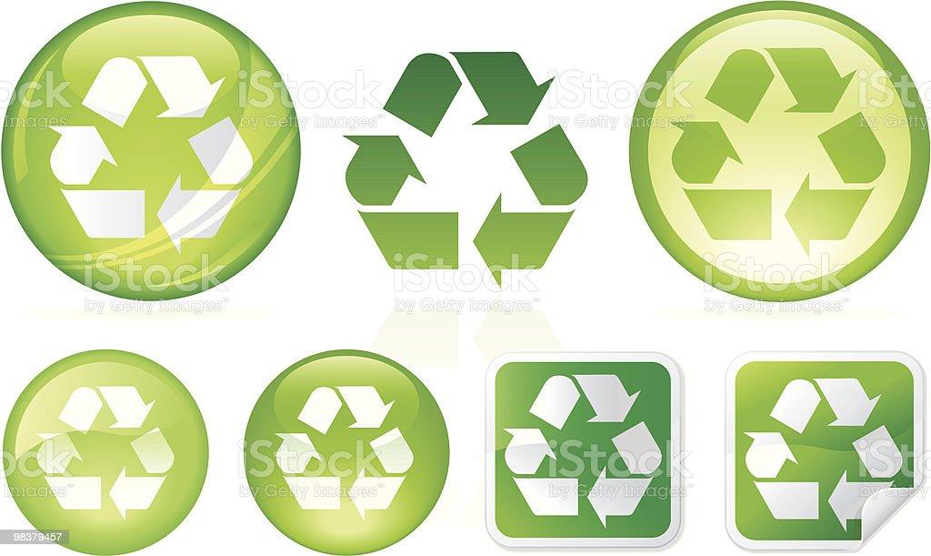 Riciclaggio di bontà riciclaggio di bontà - immagini vettoriali stock e altre immagini di ambiente royalty-free