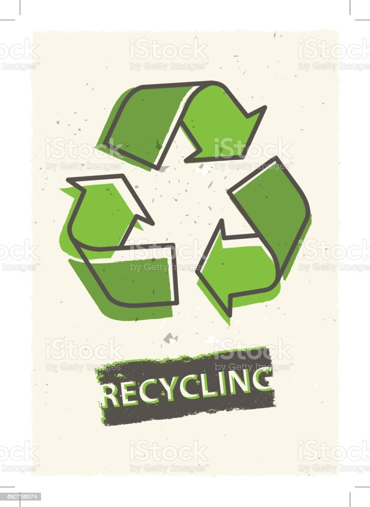 Recycling grunge vector illustration