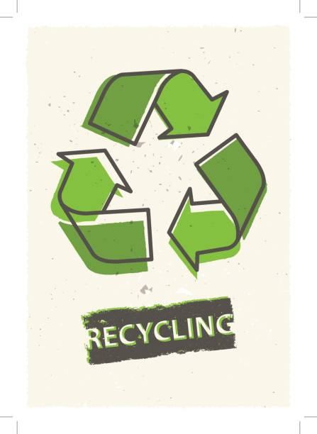 recycling grunge vector illustration - recycling stock illustrations