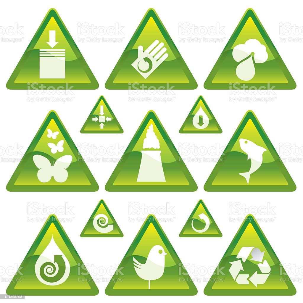 Recycling Icons - V1 royalty-free stock vector art