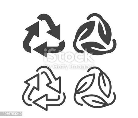 istock Recycling - Illustration Icons 1266753040