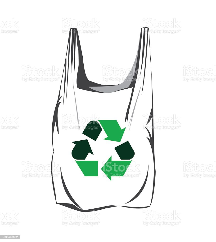 Recycling Plastic Bags Stock Illustration - Download Image ...