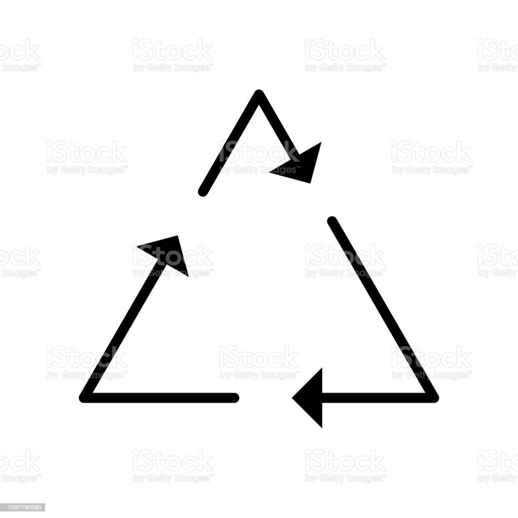 REcycling Sign icon vector icon. Simple element illustration....