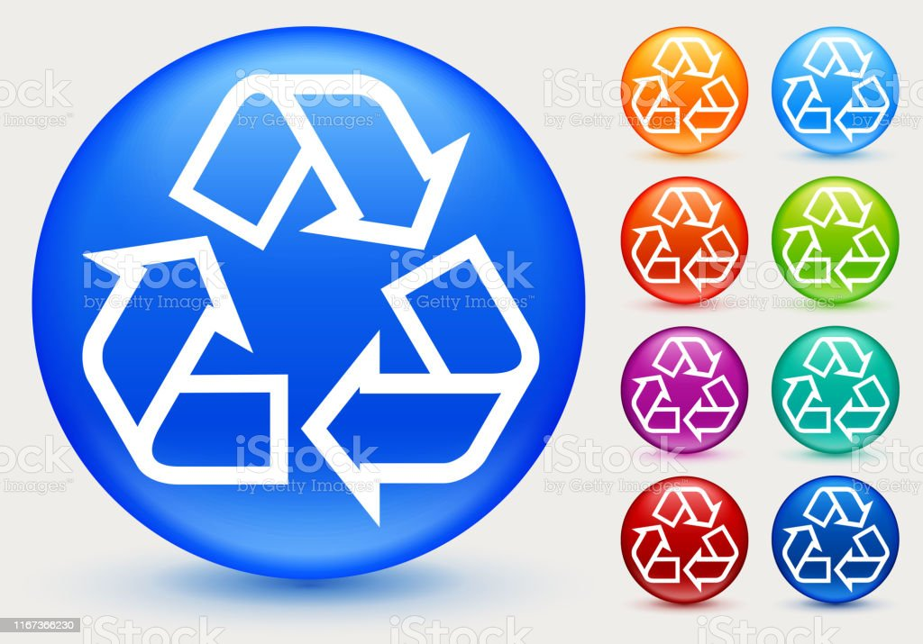 Recycling Sign Icon. This 100% royalty free vector illustration is...