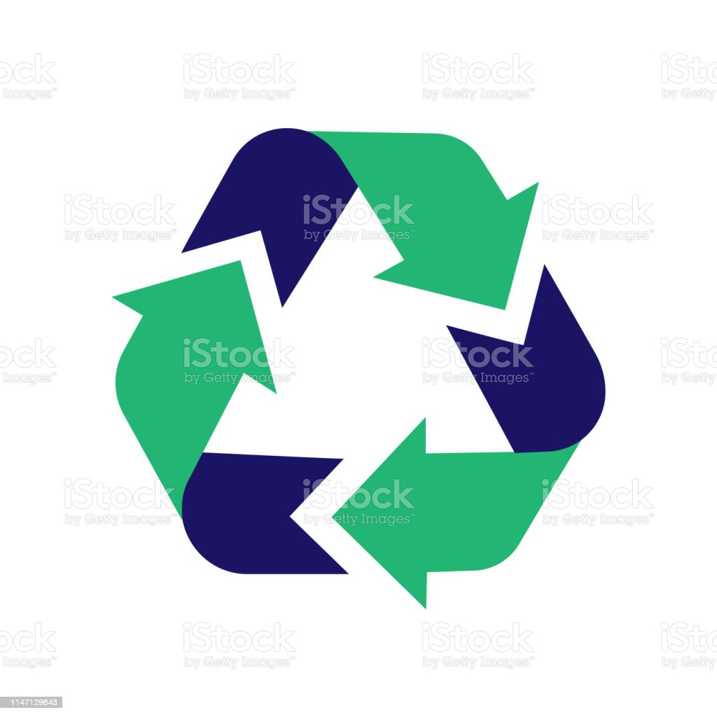 Recycle sign icon. Arrow icon vector. Recycling sign. Recycle symbol...