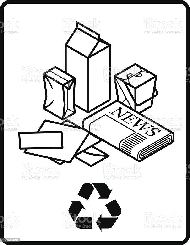 Recycling Sign vector art illustration