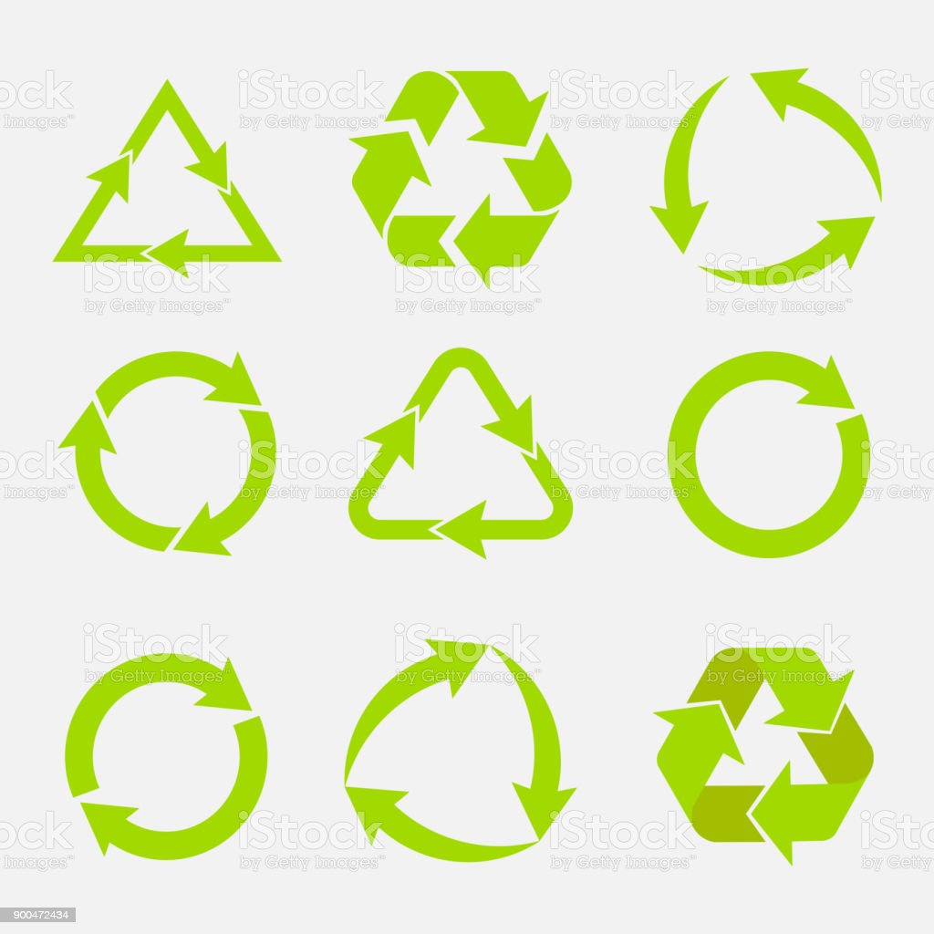 recycling symbol of ecologically pure funds, set of arrows royalty-free recycling symbol of ecologically pure funds set of arrows stock illustration - download image now