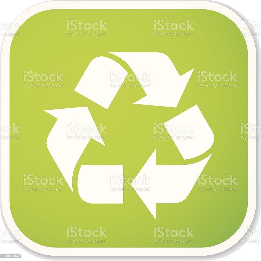 recycling symbol sq sticker vector art illustration