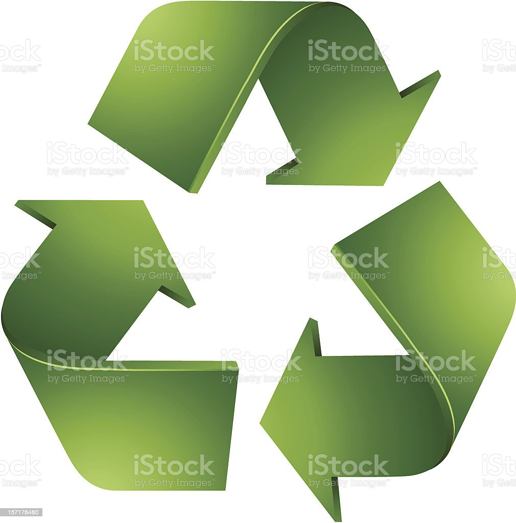 Recycling Symbol vector art illustration