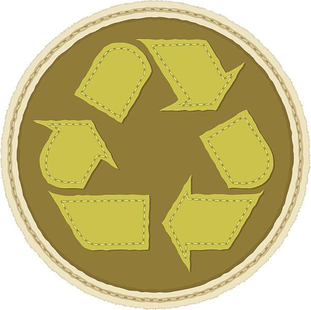 illustrazioni stock, clip art, cartoni animati e icone di tendenza di simbolo del riciclaggio - pezze di stoffa