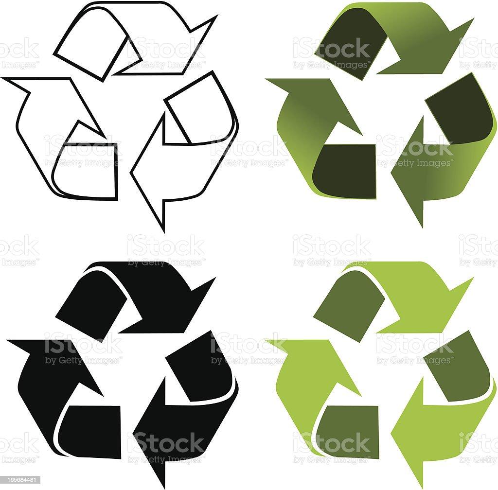 Recycling symbol vector art illustration